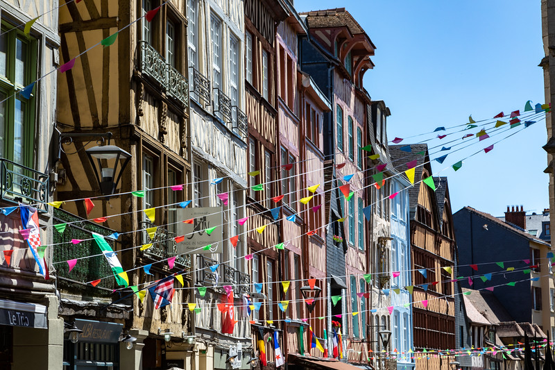 Shopping Street in the Old Part of Rouen