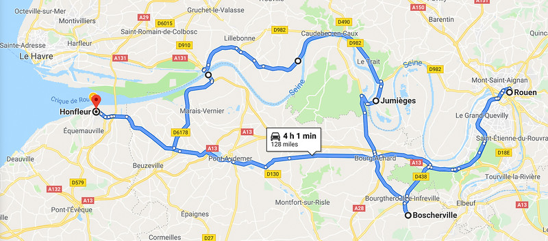 Our Day Trip Route