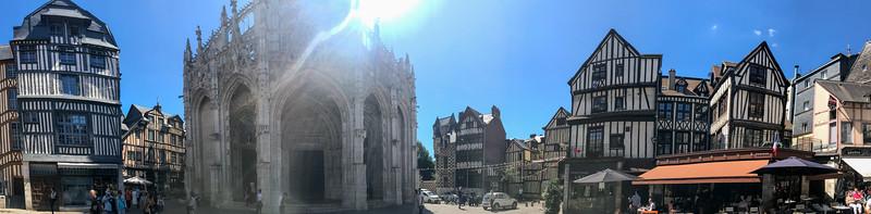 Rouen Cathedral Plaza Panorama