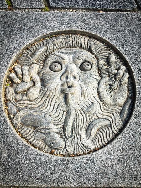 Ground Carving Near City Hall