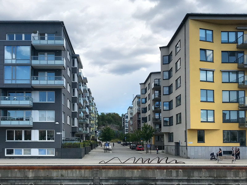 Interesting Apartments Along the Canal Between Södermalm and Henriksdal