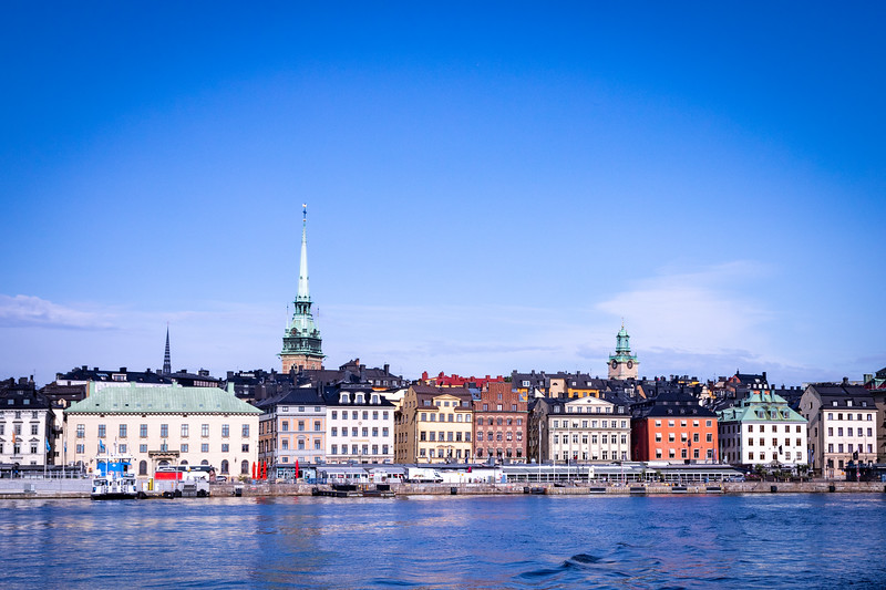 View of Stockholm from a Ferry