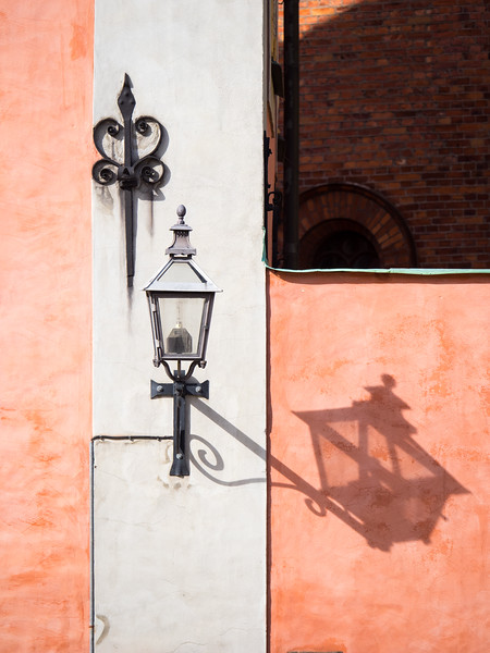 Lots of interesting shadows and colours in old Stockholm.