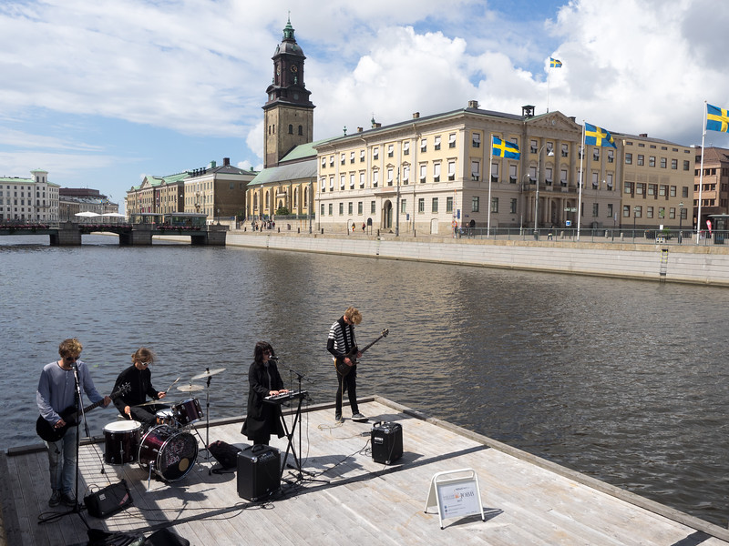 A gig with a view, Gothenburg. I think maybe there was a festival on. They were actually pretty good, bit of a electro-Goth vibe.