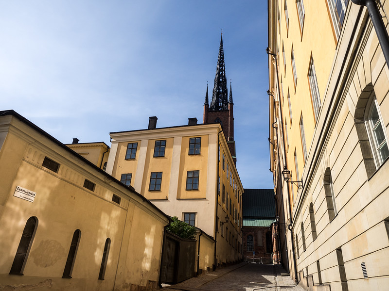 Beautiful buildings and colours in Gamla Stan, the oldest part of Stockholm.