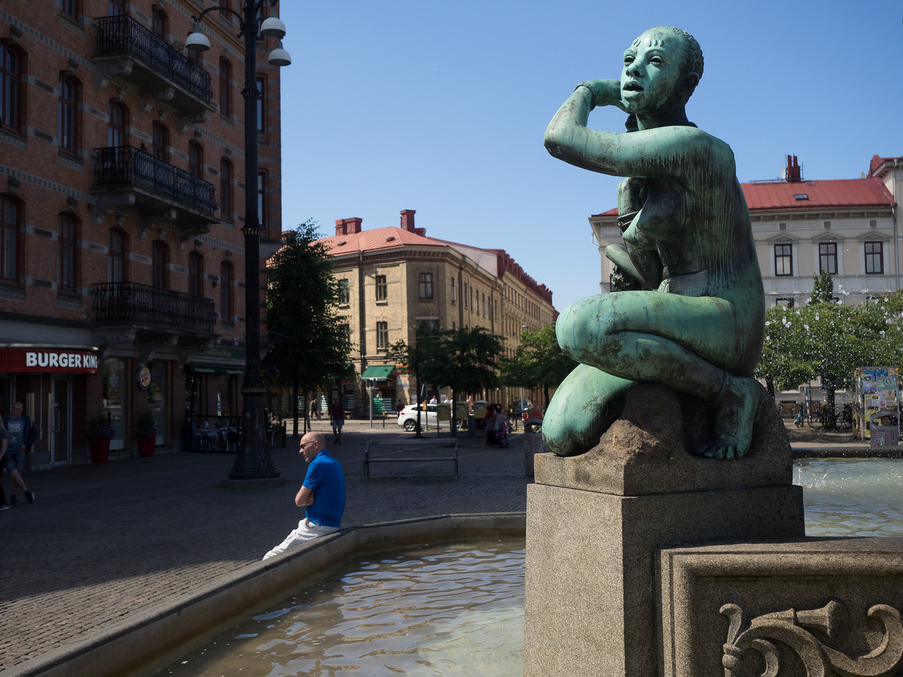 Lots of fine statues and squares in the city