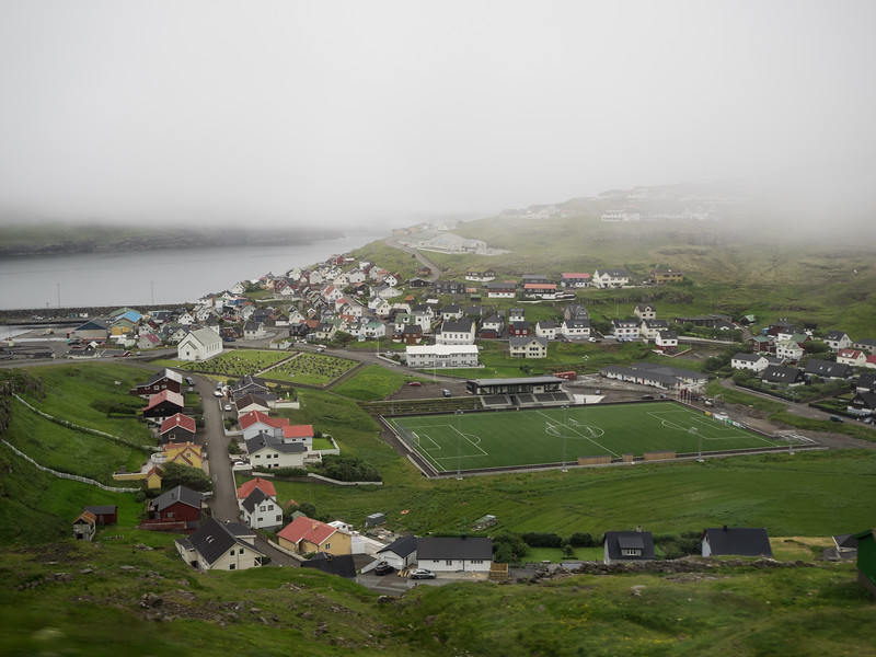 A very remote football pitch. When I was in the Faroes the Scottish team Hibernian was here to play a Faroese team. I spotted a few of the fans wandering around Tórshavn in kilts. It sounded like an entertaining game - Hibs won 6 - 4! A Norwegian tourist I met had encountered a bunch of the fans on a bus and couldn't quite work out what language they were speaking.