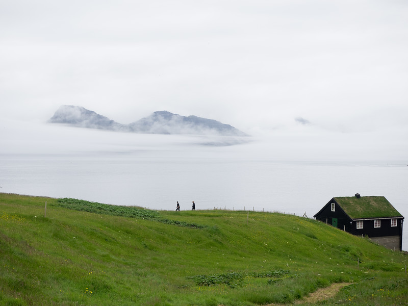 It feels like you're at the end of the world. The village is at the top of the island of Eysturoy.