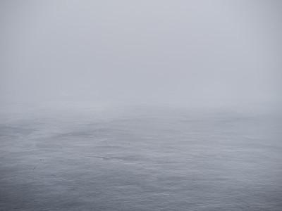 Sea and sky starting to merge.