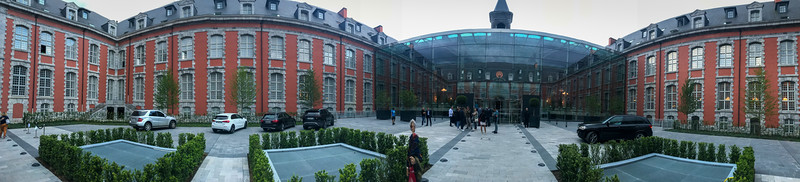 Panorama of the Hotel Courtyard