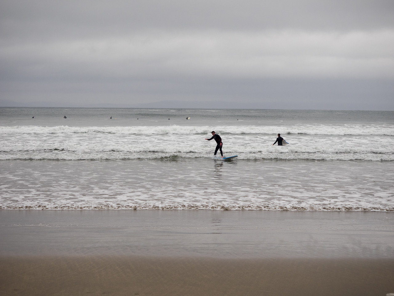 A great day for surfing at Streedagh. These guys weren't much good.