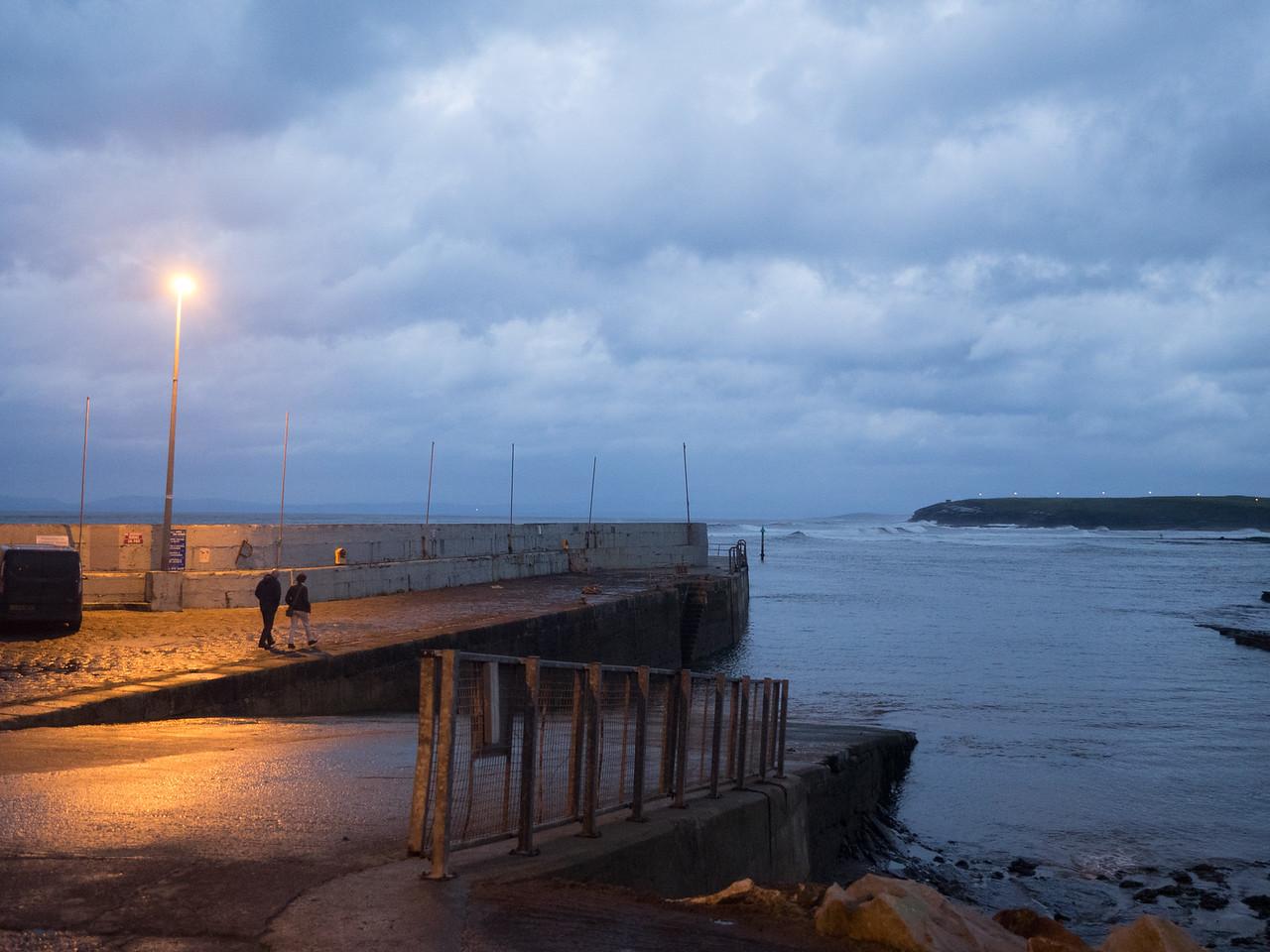 A night-time stroll in Bundoran.