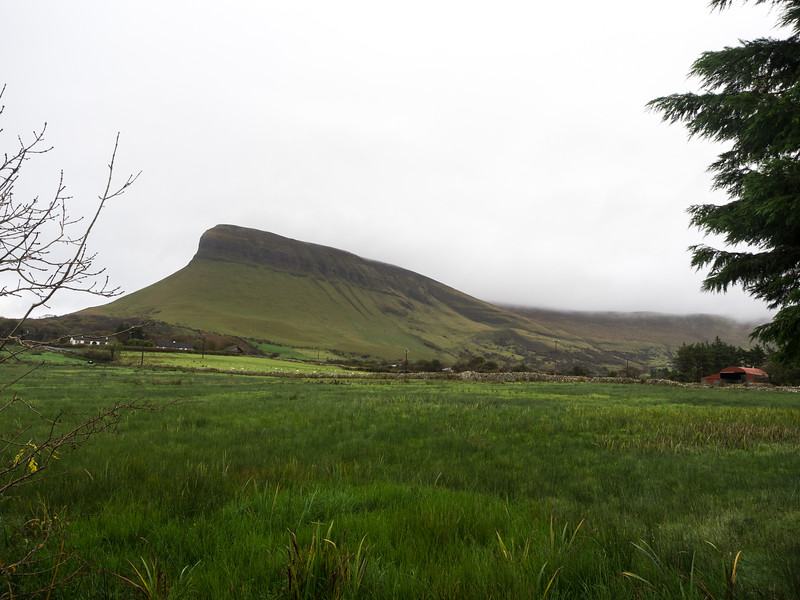 The striking curves of Ben Bulben.