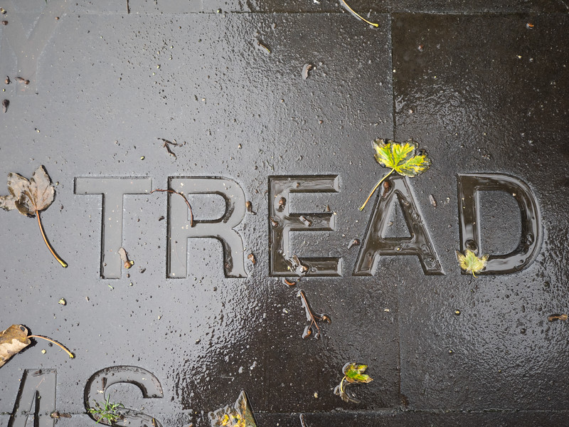 Tread carefully at this Yeats memorial, because it was actually dangerously slippy.