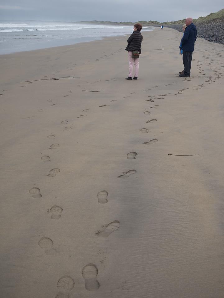 Footprints.