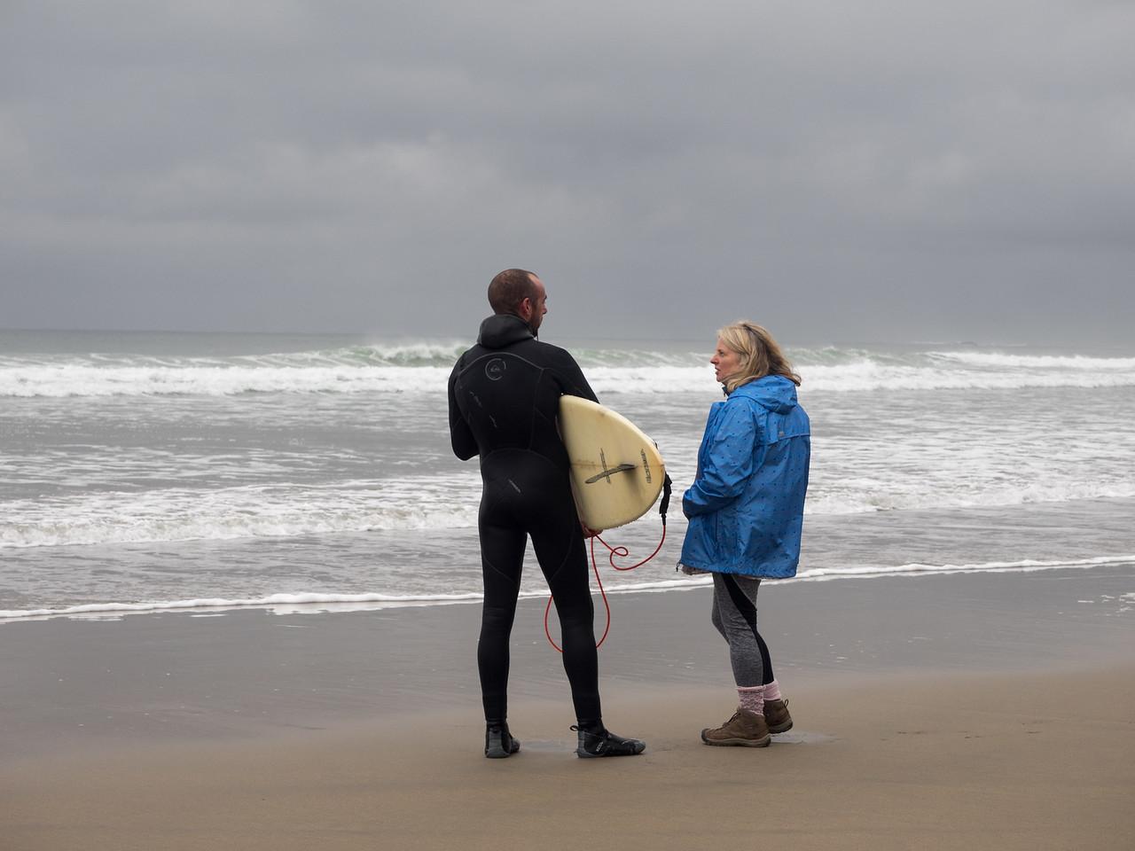 Surfing talk.