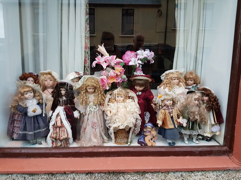 In the window of a B&B in Bundoran. No other word for it - odd.