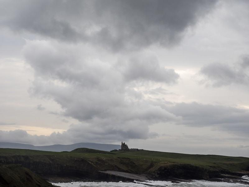 Mountbatten's castle, Classiebawn, on the horizon.