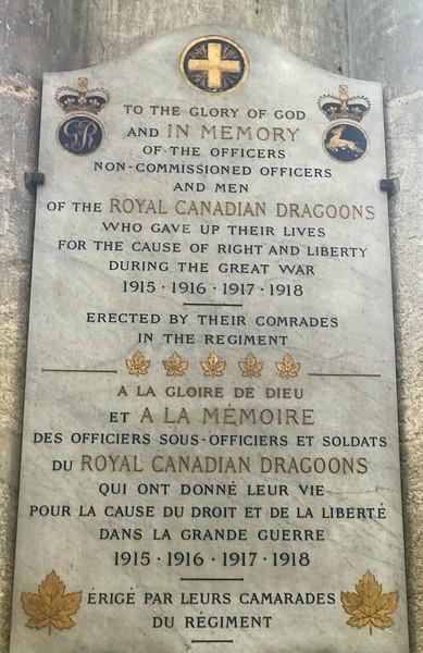 WWI Memorial - Canada