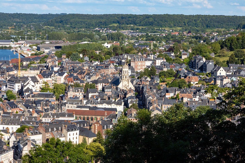 View of Honfleur from the Hilltop