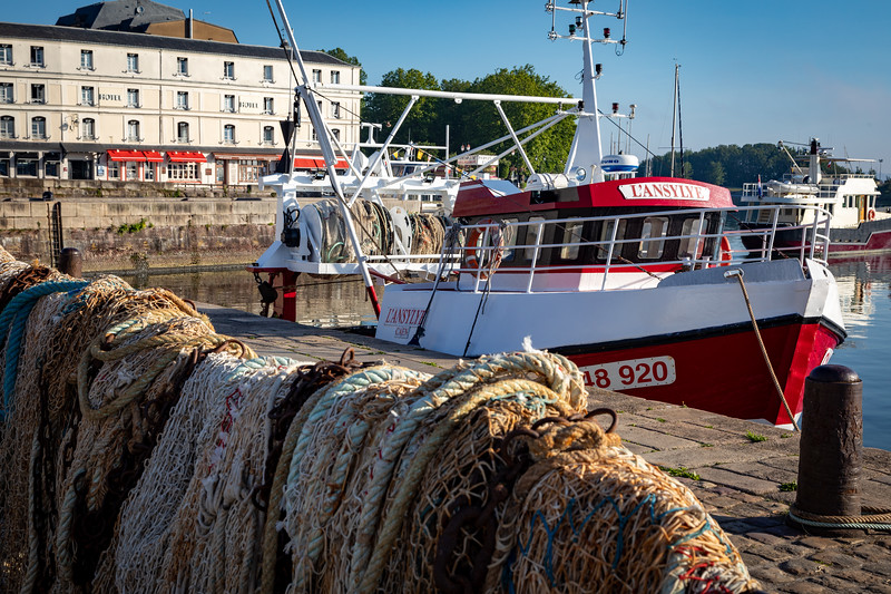 Honfleur Fishing Boat and Nets