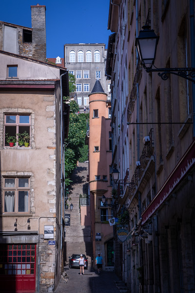 Stairs Going Up to the Croix-Rousse Neighborhood