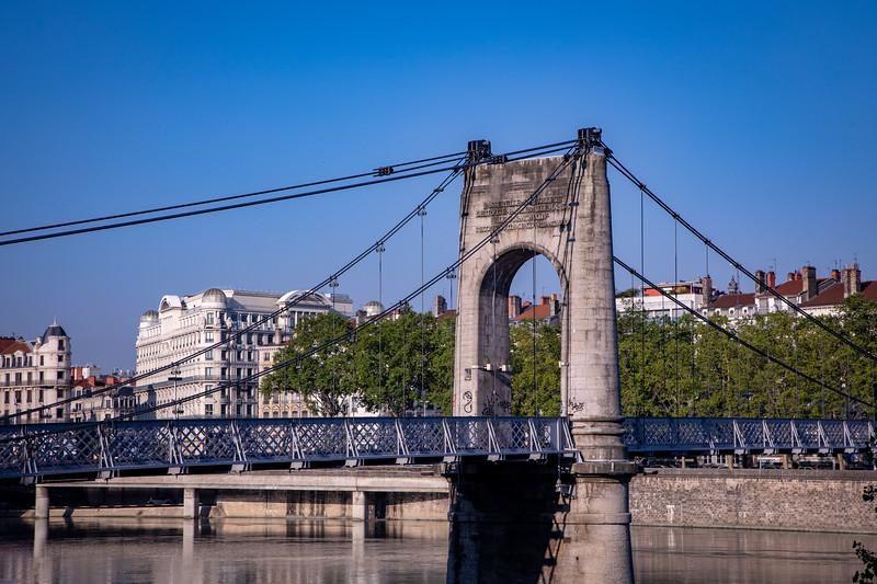 Pedestrian Bridge Across the Rhône River