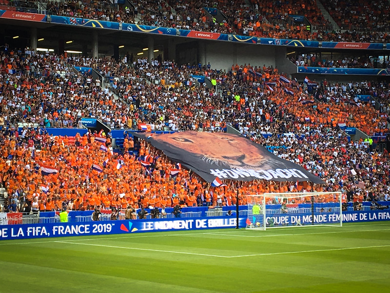 Netherlands Fans with their TIFO