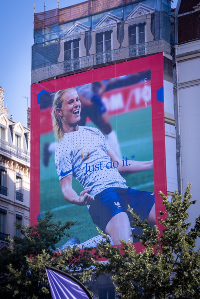 A Huge Poster of Amandine Henry
