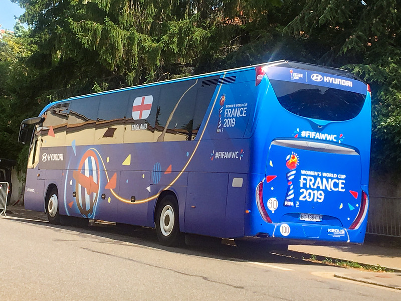 England Team Bus