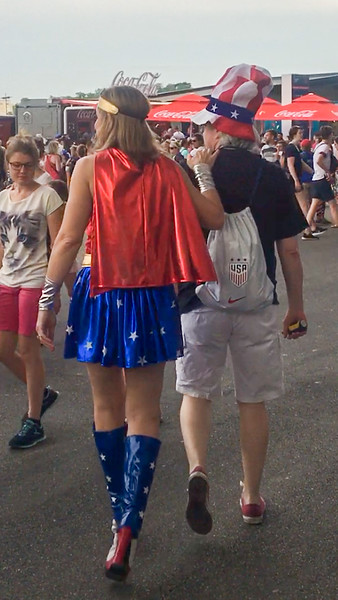 Wonder Woman Was There, Supporting the US!