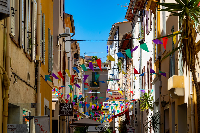 Flags in an Alley in Antibes
