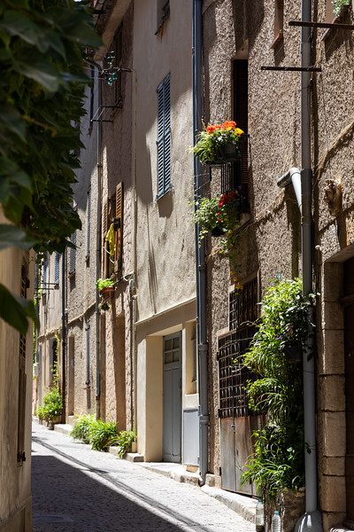 Narrow Street in Antibes Old Town