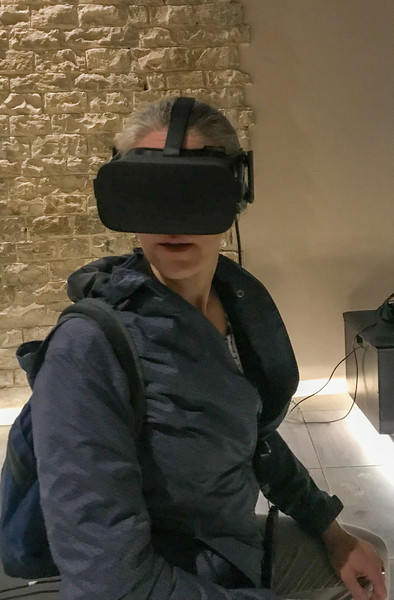 Lauren in her VR Headset