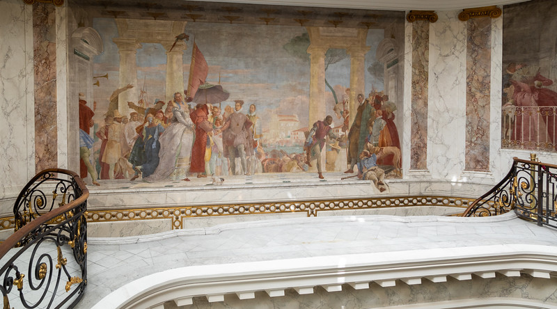 Italian Fresco at the top of the staircase at the J-A Museum