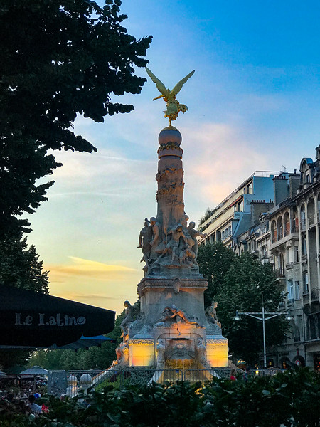 Fountain in Central Reims