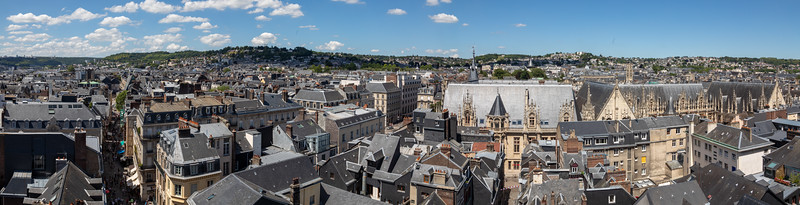 View of Rouen from the Top of the Gros Horloge Tower