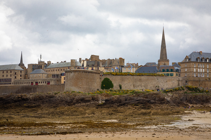 St Malo Walls Seen From the Beach
