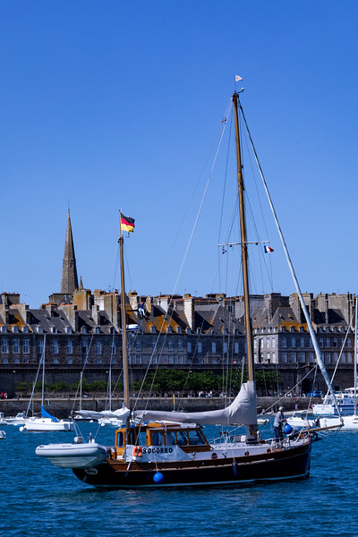 Sailboat and St Malo