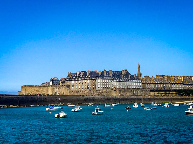 Looking Back at St Malo from the Ferry
