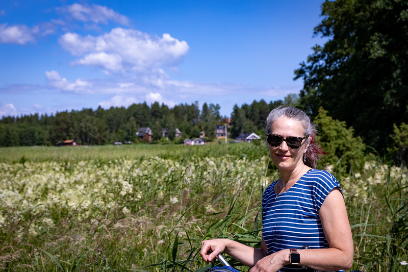 Biking on Svartsö Island