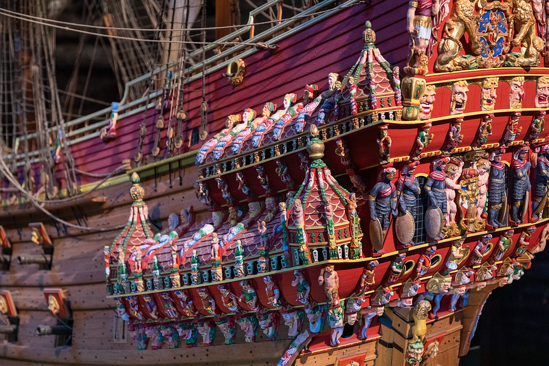 Vasa Scale Model - Ornamentation