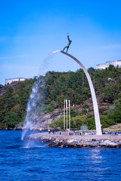 Fountain Sculpture in Nacka's Harbour