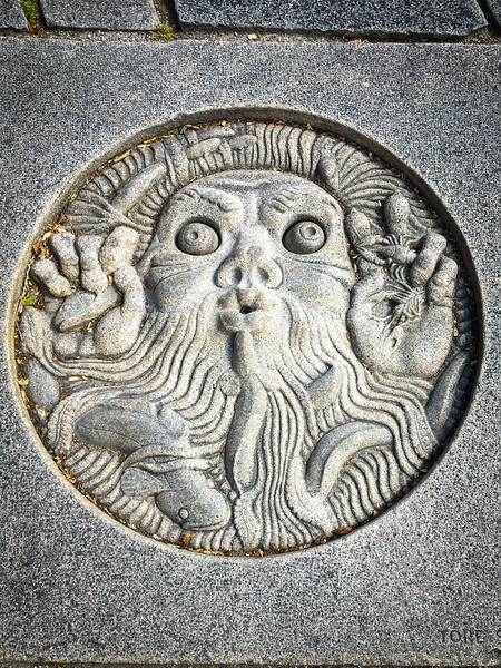 Ground Carving Near City Hall