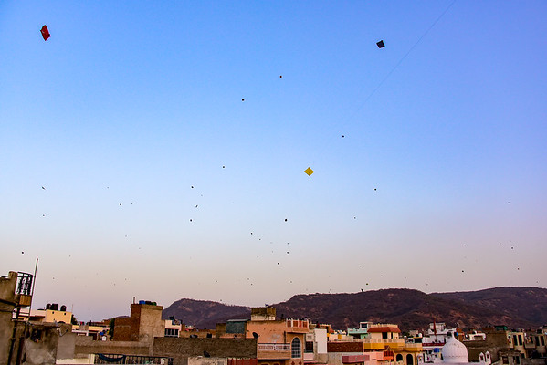 Kites in the sky day before - next day will have 10 times as many