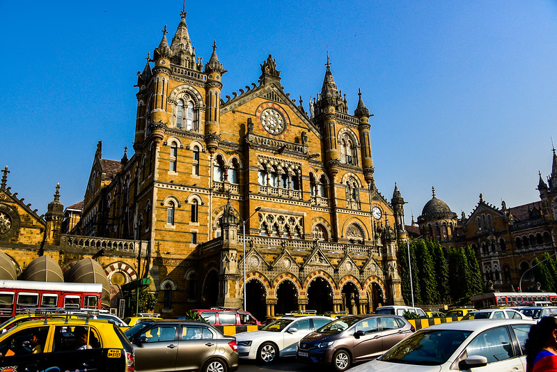 the Mumbai train station main building