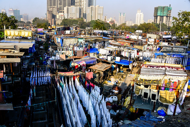 the Dhobi Ghat outdoor laundry facility - amazing