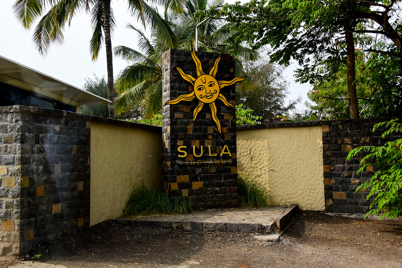 entrance to the Sula Winery