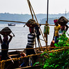Goa - Fine sand workers, they dredge the river from boats, then offload onshore