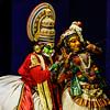 Cochin - the Kathakali dancers entertaining us